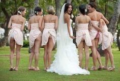 A funny bridesmaid shot! Oh my god @Ashley Canada. How much would you love that in your wedding album!!!