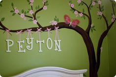 How to paint a cherry tree mural