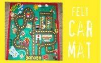 this girl has got some fun ideas. You can make a car mat out of felt.