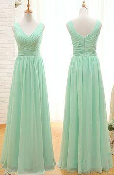 2017 Custom Charming Chiffon Prom Dress,Sleeveless Evening Dress,Simple