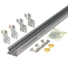 Prime-Line Bypass Closet Door Track Kit-163591 at The Home Depot