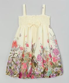 Ivory Floral Babydoll Dress - Infant, Toddler & Girls by Wenchoice #zulily #zulilyfinds