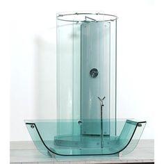 Traditional Tub from Prizma, Model: Freestanding glass tub & shower