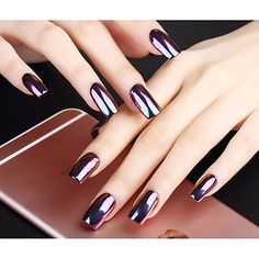 Nail glitter powder to get a crystal look nail art! Like or not? Available in six colors here >