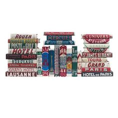 Vintage Hotel Set Of 5, $99, now featured on Fab.