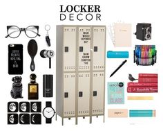 """""""Locker design"""" by gokbeerk ❤ liked on Polyvore featuring interior, interiors, interior design, home, home decor, interior decorating, Safco, Dot & Bo, Faber-Castell and Tom Ford"""