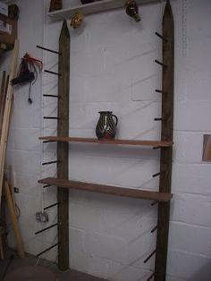 Pottery studio shelving idea
