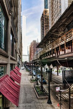 """""""The Loop""""   Chicago Downtown. l I used to ride the """"El"""" to work everyday."""