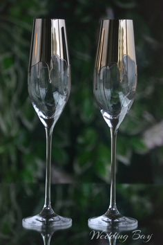 Wedding Champagne Flutes, Wedding Glasses, Champagne Glasses, Handmade Wedding, Personalized Wedding, Bride And Groom Glasses, Bride Groom, Wine Glass, Glass Art