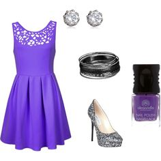 """""""Untitled #12"""" by elsa-swanson on Polyvore such a great color of purple"""