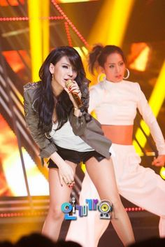 The biggest KPOP fashion store in the world -- kpopcity.net !! CL ( Lee Chae-rin) 2NE1 performs on Inkigayo with GD