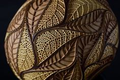 These carved leaves are a head of the handmade, gourd lamp by Calabarte. Only 3 lamps by this artist per year are available for sale. #Calabarte #luxuryhandmade #art #luxurylighting #homedecor #lamp #handmadelamp #luxurylamp #exclusivelamp #woodwork #woodcarving #geometricart #geometricpattern #gourdlamp #mcescher #escher #leaf #leafdesign #visualart #geometrical #craft #openwork #symmetry #geometricdesign #luxurygifts #luxuryhome #luxurious #uniquedesign #woodburning #pattern…