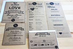 Kraft simplicity wedding/ ceremony program set of by yesdearstudio, $75.00