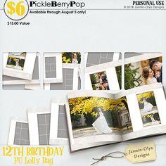 Lolly Bag - PU {by Jasmin-Olya Designs} 12th Birthday, Birthday Celebration, Happy Birthday, Lolly Bags, Digital Scrapbooking, Challenges, Design, Happy Brithday, Urari La Multi Ani