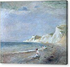 The Beach At Varangeville Canvas Print by Renoir