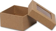 Food and Gourmet Boxes - Kraft Rigid Gourmet Window Boxes, Small (3 Boxes) - BOWS-SRGW-KFT *** Find out more about the great product at the image link.