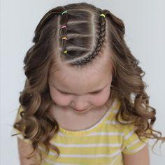 Girls School Hairstyles, Little Girl Hairstyles, Cute Hairstyles, Award Show Dresses, Hairspray, My Girl, Braids, Three Days, Hair Styles
