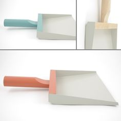 Dustpan Design by Mr&Mrs Clynk - Andrée Jardin - Boutique Casper Bed, Dustpans And Brushes, Broom And Dustpan, Wooden Spatula, Task Lamps, Pan Set, Eco Friendly House, Travel Design, Headboards For Beds