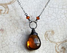 Whiskey Quartz Necklace.. I think I pinned this before, but I love this necklace and the color.
