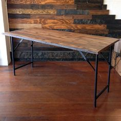 Spacing Saving Dining Solutions: Wooden Folding Table From Au0026G Merch