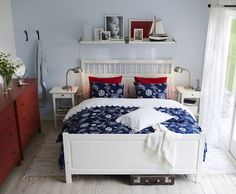 IKEA bedroom - with different colors I think this would be a great spare room