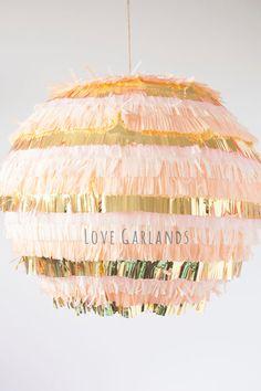 Pinata Fringe Lantern, Wedding Lantern, Baby Shower Lantern, Handmade Lantern…