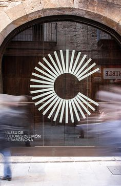 Museum of World Cultures of Barcelona- Museu de Cultures del Món de Barcelona & logo type – Museum of cultures of the world of Barcelona - Wayfinding Signage, Signage Design, Design Retro, Layout Design, Logos Retro, Logo Type, L Logo, Window Graphics, Environmental Graphics