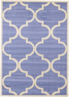 Blue Trellis Area Rug