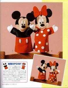 Patrones marionetas o titeres mickye y mini mouse