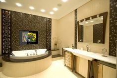 Should You Have a TV in Your Bathroom? #bathroom #splashbacks http://bathroom.nef2.com/2017/04/25/should-you-have-a-tv-in-your-bathroom-bathroom-splashbacks/  #tv for bathroom By Paul Dorrington | Published September 3, 2014 Your bathroom is your personal space to relax and unwind. It's your own getaway and if you decide that you want to watch TV whilst taking a soak, then…  Read more