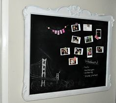 Magnetic and chalkboard paint - for the kitchen