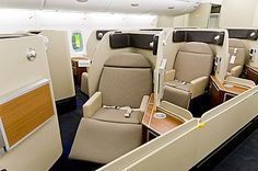Qantas First Class Cabin on the A380