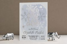 Baby It's Cold Outside Foil-Pressed Baby Shower Invitations by Alethea and Ruth at minted.com