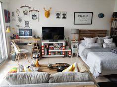 Un apartamento de soltero con mucho DIY