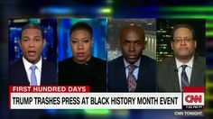 """Trump blasts media at Black History Month event.  U.S. President Donald Trump opened a """"listening session"""" on Wednesday for Black History Month by lashing out at one of his favorite targets for derision - the news media - complaining to a group of his supporters that most reporters who cover him are a """"disgrace.""""  Trump rehashed his grievances over a report that erroneously said a bust of slain civil rights leader Martin Luther King Jr. had been removed from the White House Oval Office - a…"""