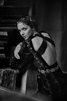 Mariacarla Boscono by Peter Lindbergh for Vogue Italia March 2016