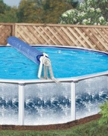 Deluxe Above Ground Solar Pool Cover Reel System Up To 24