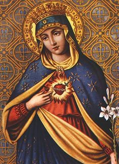 Immaculate Heart of Mary | the immaculate heart of mary o most blessed mother heart of love heart ...