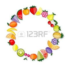 Frutos de la energ�a. Vector de marco para el dise�o photo
