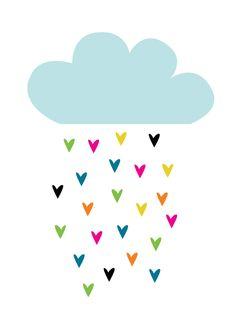 Cette illustration de Fly On The Wall est très colorée et ludique. En plus, elle est facile à reproduire sur une pièce de céramique du Crackpot Café! D'abord, peignez votre pièce tout en blanc. Ensuite, découpez la forme de nuage dans une feuille de papier. Apposez ce pochoir fait à la main sur votre pièce et peignez le nuage de la couleur de votre choix avec 3 couches de peinture. Terminez au pinceau pour réaliser ces gouttelettes de pluie originales et colorées. Voilà!
