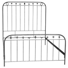 Take your kid's room to a time of vintage elegance, old world values and traditional beauty with this iron bed from Corsican Iron Furniture