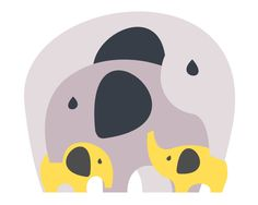 Mommy, Daddy and Us - Twins or Siblings - Grey and Yellow Elephant Nursery (More colors available!)