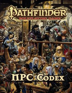Populate your Pathfinder world with the NPC Codex, the latest hardcover rules reference for the smash-hit Pathfinder Roleplaying Game! This must-have compendium contains more than 250 fully-detailed N