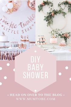 DIY Baby Shower Ideas for a Baby Girl or Gender Neutral Baby Shower
