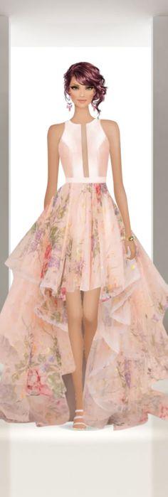 50s Dresses, Fashion Dresses, Diva Dolls, Fancy Gowns, Illusion Dress, Covet Fashion Games, Spring Summer 2018, Ballet Skirt, Womens Fashion