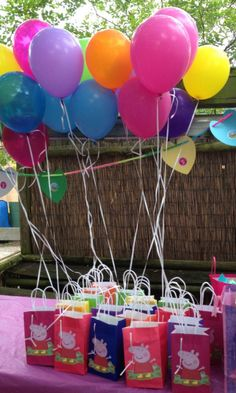 Decoração festa Peppa Pig, lembrancinhas