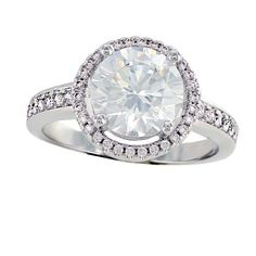 Perfect Halo Ring - Round CZ Halo Engagement Ring