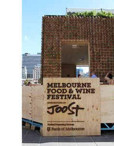Greenhouse by Joost - Melbourne - The Design Files Pop Up Cafe, Container Restaurant, Event Branding, The Design Files, Wine Festival, Environmental Graphics, Cafe Design, Retail Design, Pop Up Stores