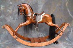 Wooden Rocking horses traditional hand carved by Legends Rocking Horses