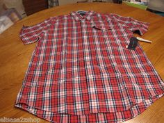 Men's Tommy Hilfiger shirt XL button up college Poplin red NEW 7816084 644 NWT